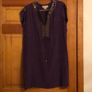 Michael Kors silk embellished dress size L